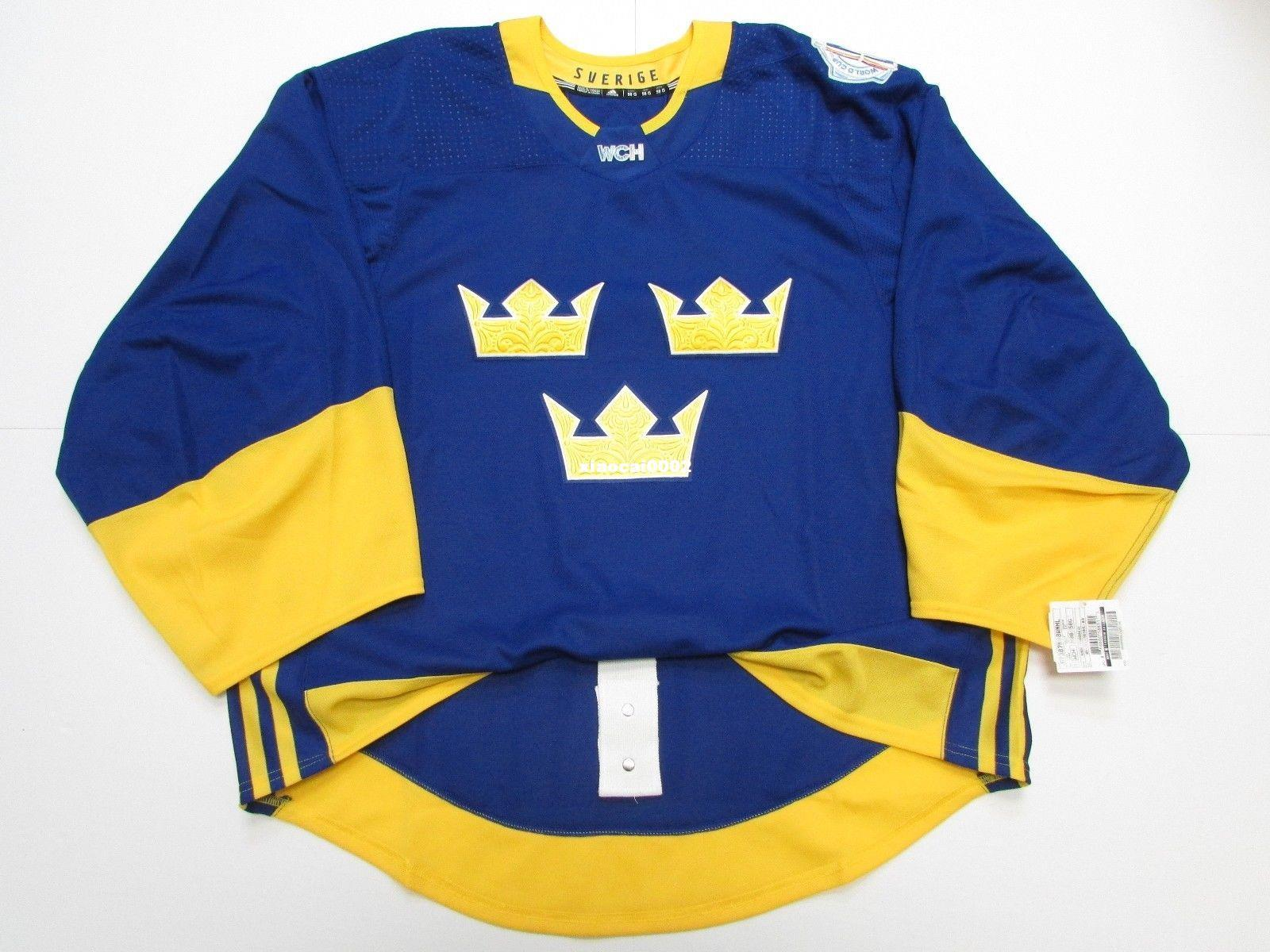 Cheap Custom SWEDEN BLUE 2016 WORLD CUP OF HOCKEY TEAM ISSUED JERSEY GOALIE  CUT 60 Mens Stitched Personalized Hockey Jerseys UK 2019 From Xiaocai0002 2b798ba17