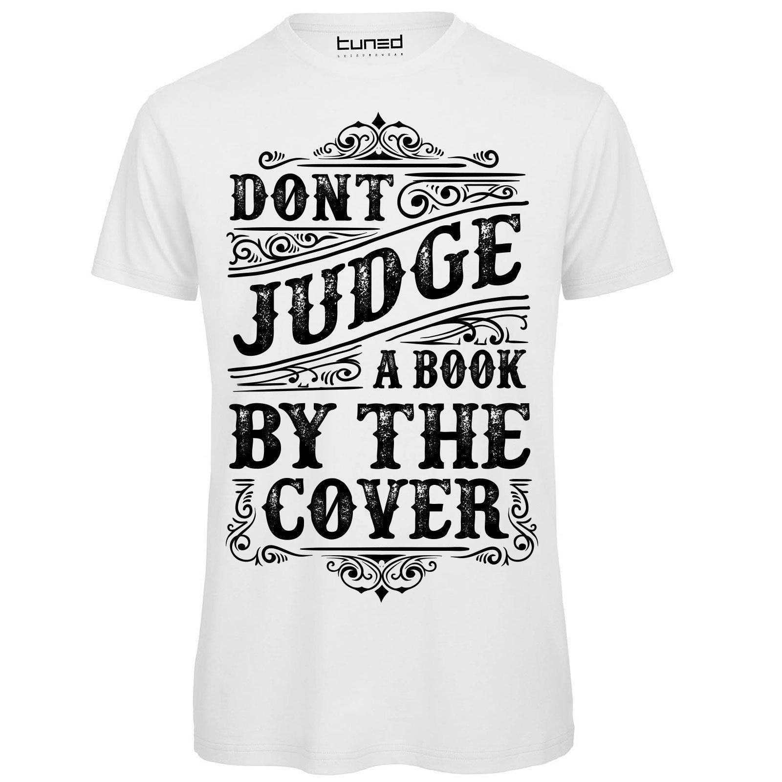 fd6d1f9bb6 T-shirt Divertente Uomo Maglia Con Stampa Frasi Ironiche Do not Judge Book  Tuned Fashion Logo Printing T Shirt