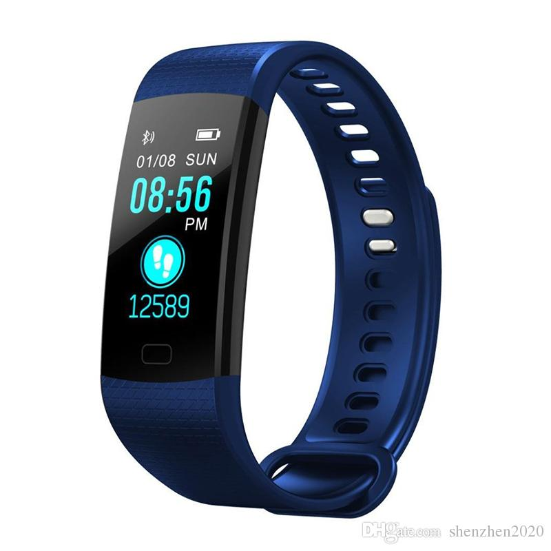 Y5 Smart Bracelet Wristband Fitness Tracker Color Screen Heart Rate Sleep Pedometer Sport Waterproof Activity Tracker for iPhone Samsung DHL