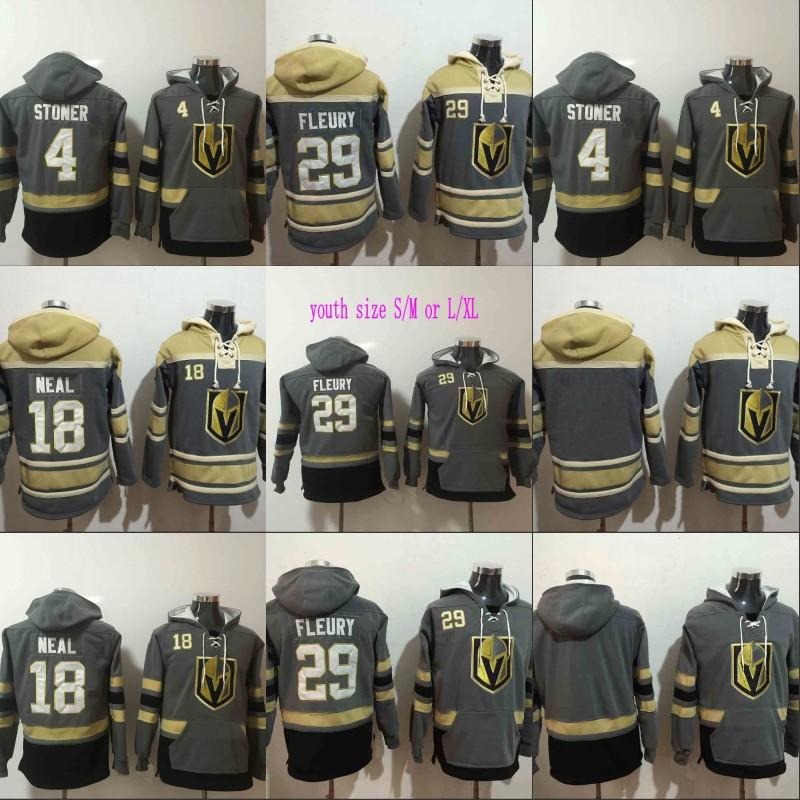 2019 Mens Vegas Golden Knights Hoodies Hockey Jersey 18 James Neal 4  Clayton Stoner 29 Marc Andre Fleury Sweatshirts Winter Jacket From  Projerseysword e16562e64