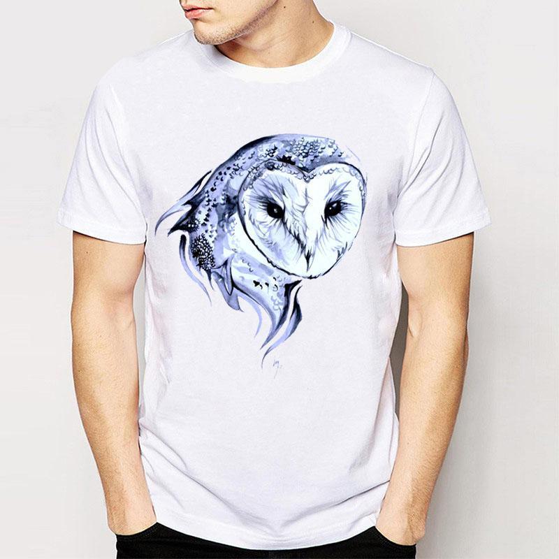 Brand New Summer Barn Owl Tattoo Design Print Tee Shirts Good