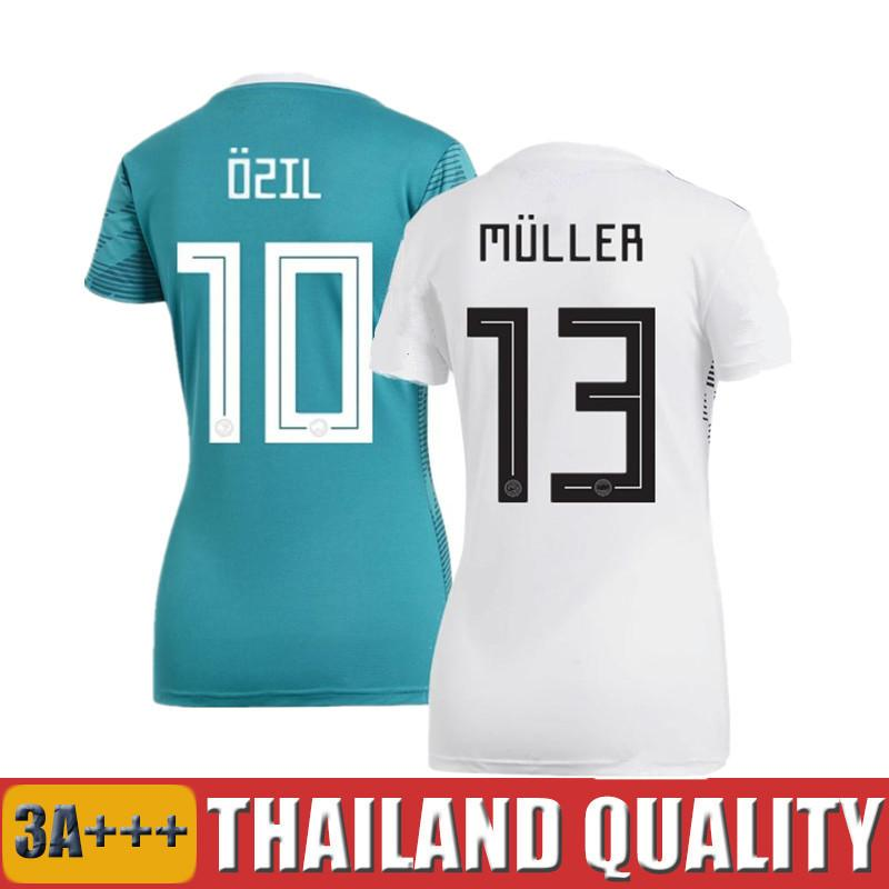 b5b37bc27b4 2019 2018 World Cup Deutschland Women Fußball Trikots OZIL KROOS Female  Soccer Jerseys DRAXLER MULLER REUS WERNER GERMANY Ladies Football Shirts  From ...