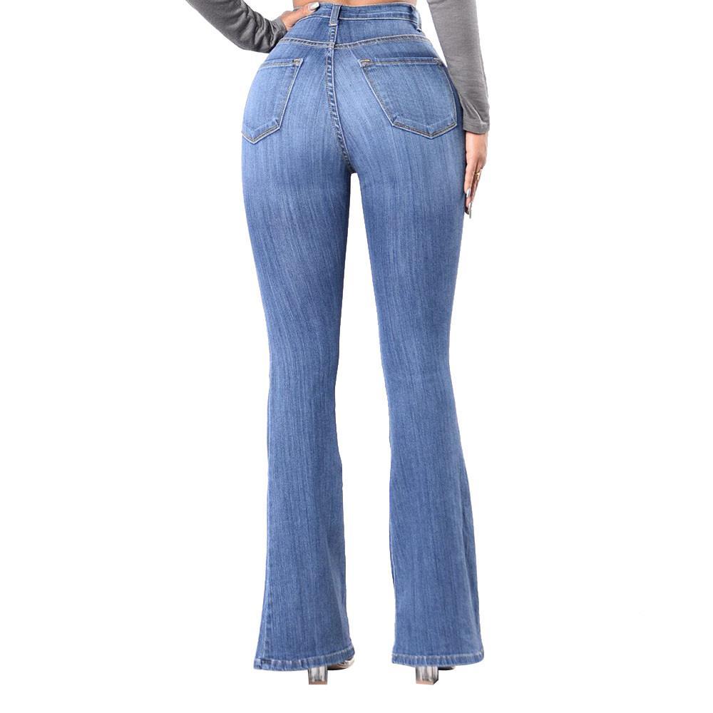 Compre Pantalones Vaqueros Para Mujeres Pantalones Largos Pantalones  Vaqueros Mujer 2018 Pantalones De Pierna Ancha Fluida Mujeres Sueltas  Cintura Alta ... a47fe91b5dff