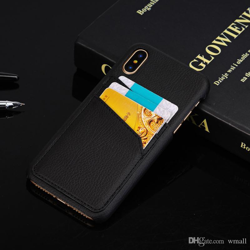 Luxus handy case für iphone x 6s 7 8 plus handy retro leder tpu stark zurück case brieftasche abdeckung mit kreditkartensteckplatz halter
