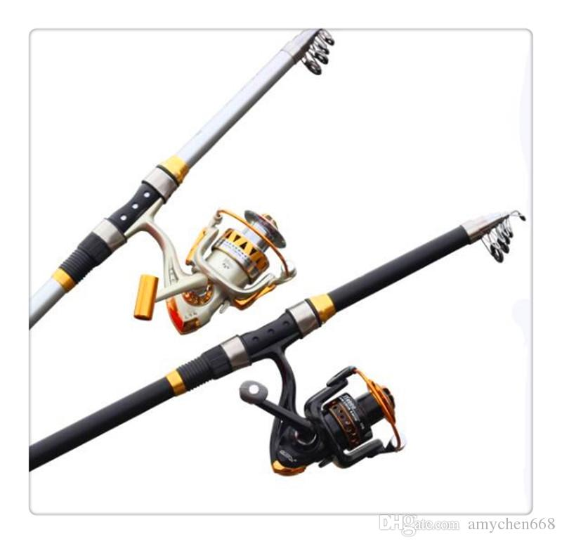 07a1216e652 2019 Rod Reel Combo Carbon Fibre Telescopic Distance Throwing Rock Fishing  Rod Portable Spinning Fish Hand Sea Pole Peche2.7m 3.6m From Amychen668
