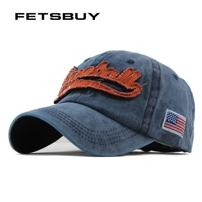 d70d082d7af FETSBUY Washed Snapback Caps Men Embroidery Baseball Caps Women s Cotton  Hip Hop Cap Unisex Sun Visor Hats For Women Bone F112 Womens Baseball Hats  Cheap ...