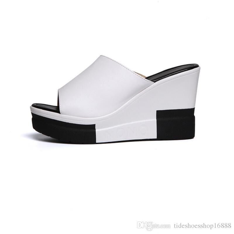 b1c9d70a9dc Gladiator Sandals Women Platform Wedges Shoes For Women Sandals 2018 Summer  Fashion Ladies Peep Toe Wedges Slippers Women Summer Sandals