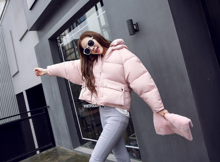 2018 New Padded Parkas 겨울 패션 여성 자켓 짧은 디자인 코튼 패딩 코트 여성 Causual Warm Hoodies Loose