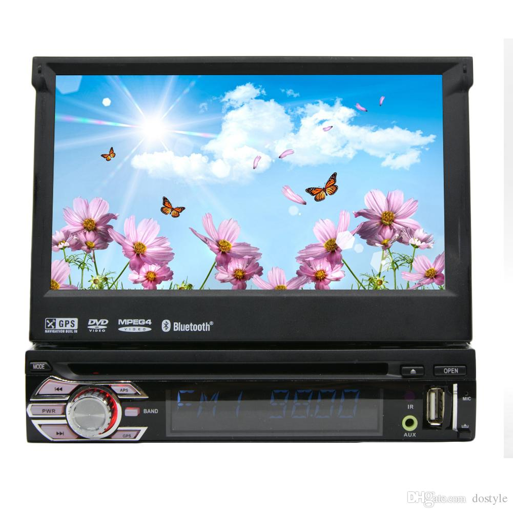 Single Din 7 Car Stereo Windows In Dash GPS DVD Player Touchscreen USB SD IPOD FM Transmitter Steering Wheel Dvd With Monitor