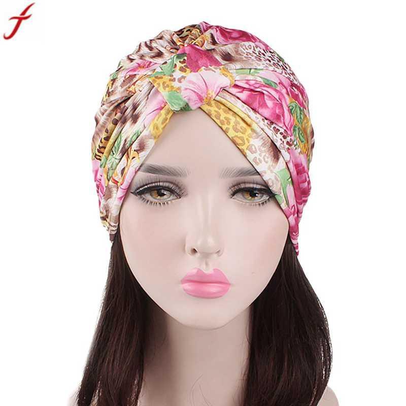 Compre Turbante De Algodão Floral Mulheres Caps 2018 Verão India Muçulmano  Headwear Chapéus Para Senhoras Cabeça Lenço Envoltório Cap Senhoras Turbante  De ... 6627f353965