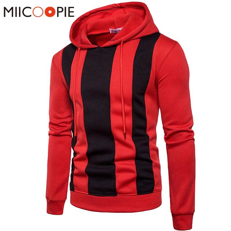 Hoodies Mens Hip Hop Brand Hoodie Color Stitching Sweatshirt Men Slim Fit Striped Punk Hipster Hoody Tracksuit Pullover XXXL