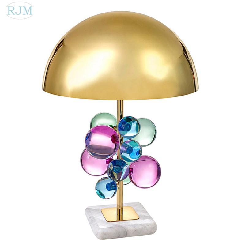 Großhandel Pfosten Moderne Kristallkugel Tischlampe Designer Luxus Led  Schreibtischlampe Modell Zimmer Wohnzimmer Schlafzimmer Studie Lampe  Kreative Leuchte ...