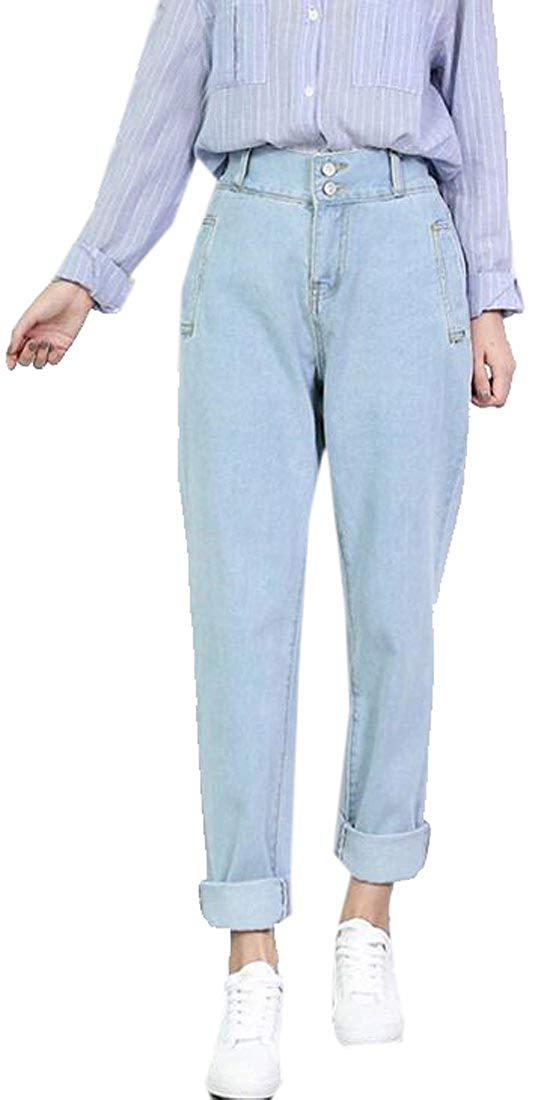 14bbf4e02ad6 2019 Womens Casual Loose Fit Plus Size High Waisted Jeans Denim Pants  Trousers From Goldenharvest