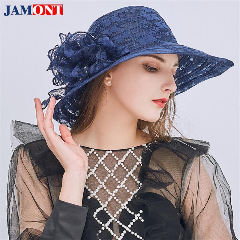 29128a474a7b2 Compre Sombrero Para El Sol Mujer Sombreros De Playa Sombrero De Verano  Brote De Seda Hilados Sombreros En El Interior Visera Parasol Versión  Coreana De ...