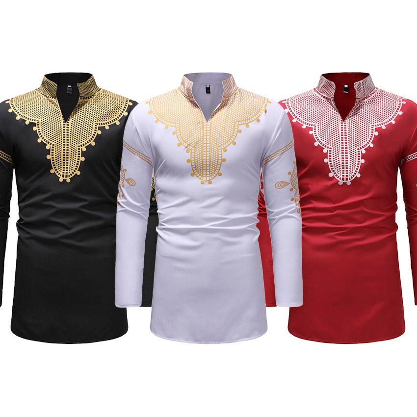 ead724b9b000 Acquista Vestiti Tradizionali Africani Abito Bazin Maschio 3D Stampa Ricamo  Completo Manica Top T Shirt Bazin Riche Africa Dress For Man A  27.33 Dal  Aprili ...