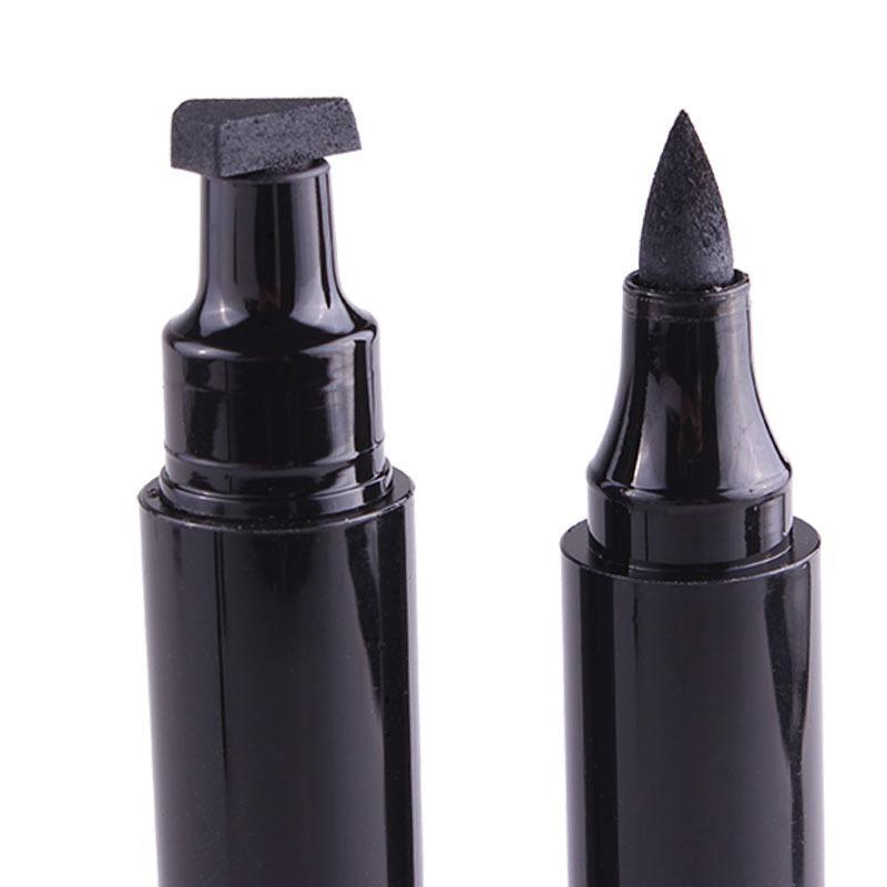 2018 heißer Verkauf Fräulein Rose Stempel Eyeliner Seal Bleistift Professionelle Augen Make-Up-Tool Doppelköpfe Zwei Köpfe Eyeliner Pen