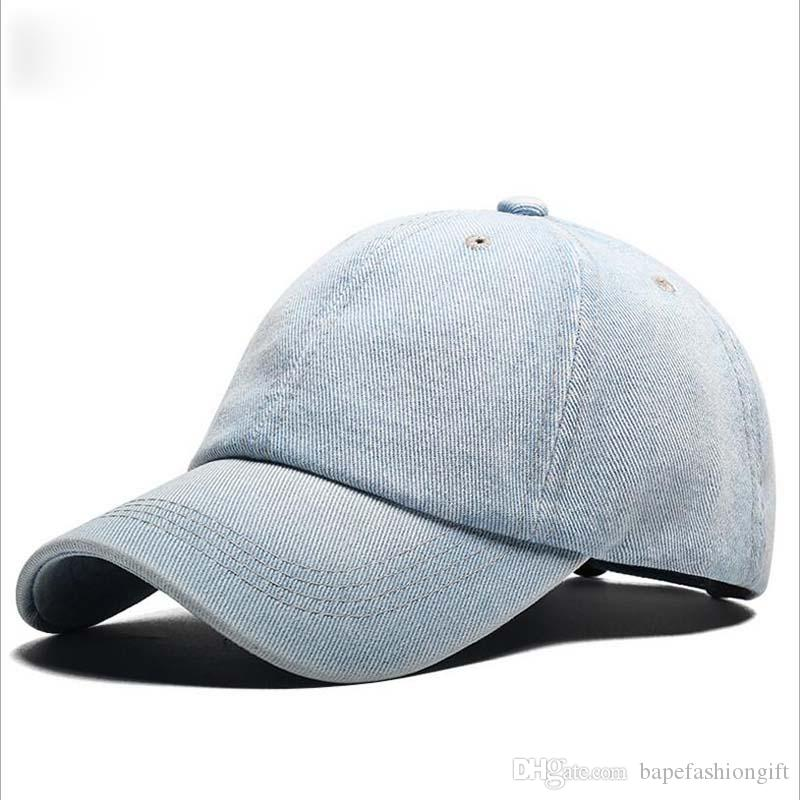 Nueva versión coreana de The Tide Four Seasons Visor fabricantes Custom Wholesale Men And Women Of The Cowboy gorra de béisbol lavada