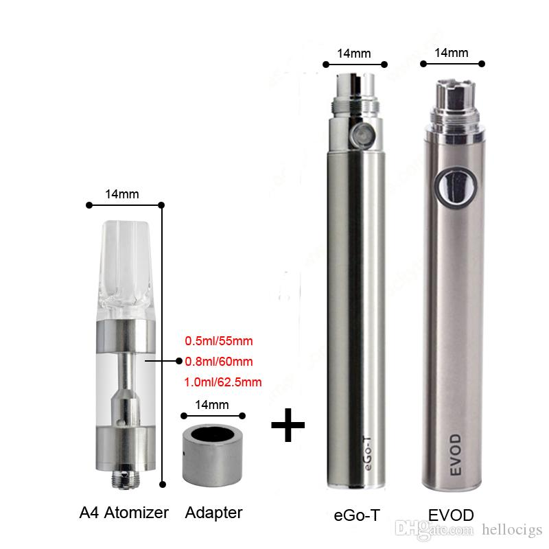 Special design Ceramic Coil A4 Cartridge 14mm Diameter for Thick Oil fit for all ego EVOD battery