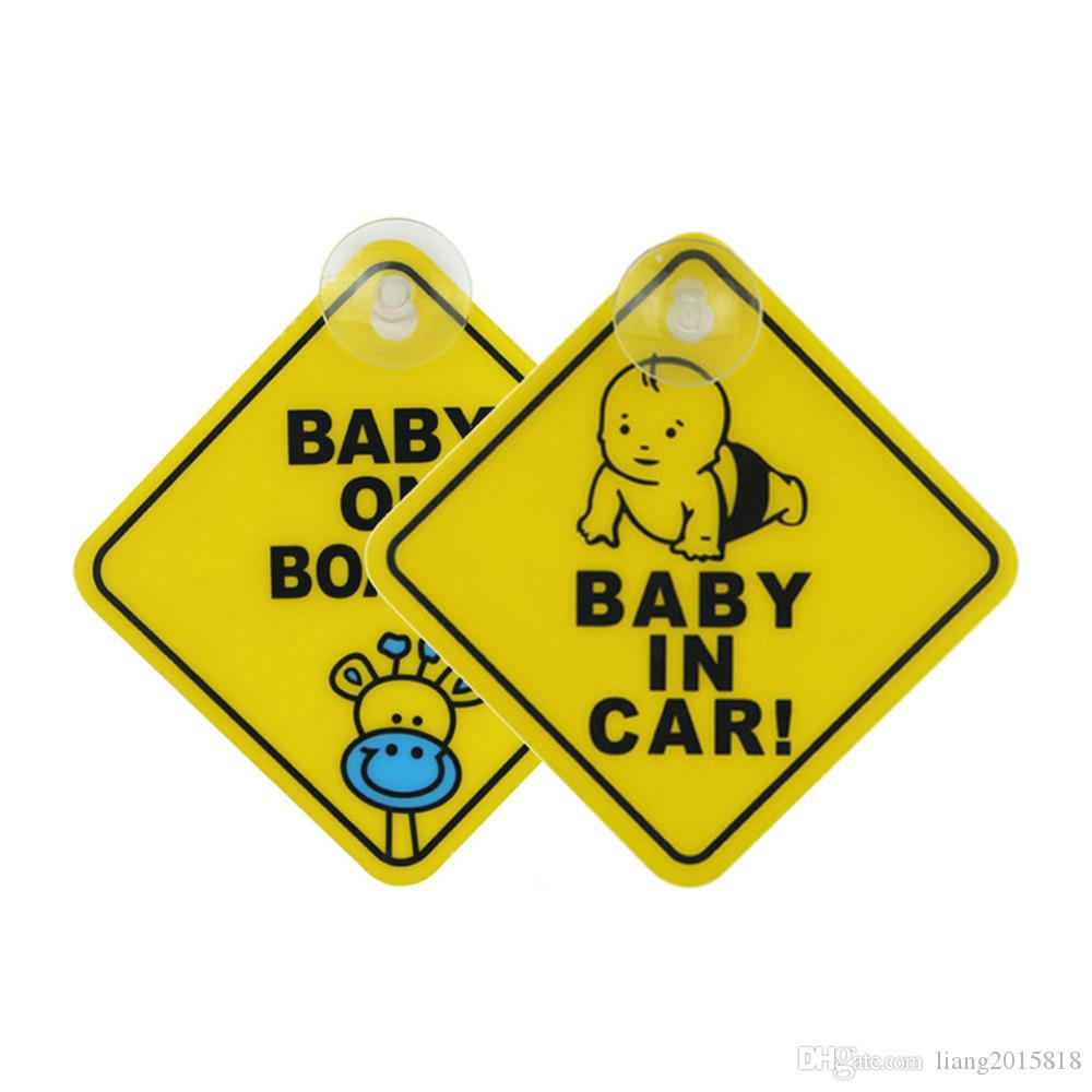 2019 plastic car styling baby on board car stickers creative kids window warning safety sticker for smart parents from liang2015818 5 01 dhgate com