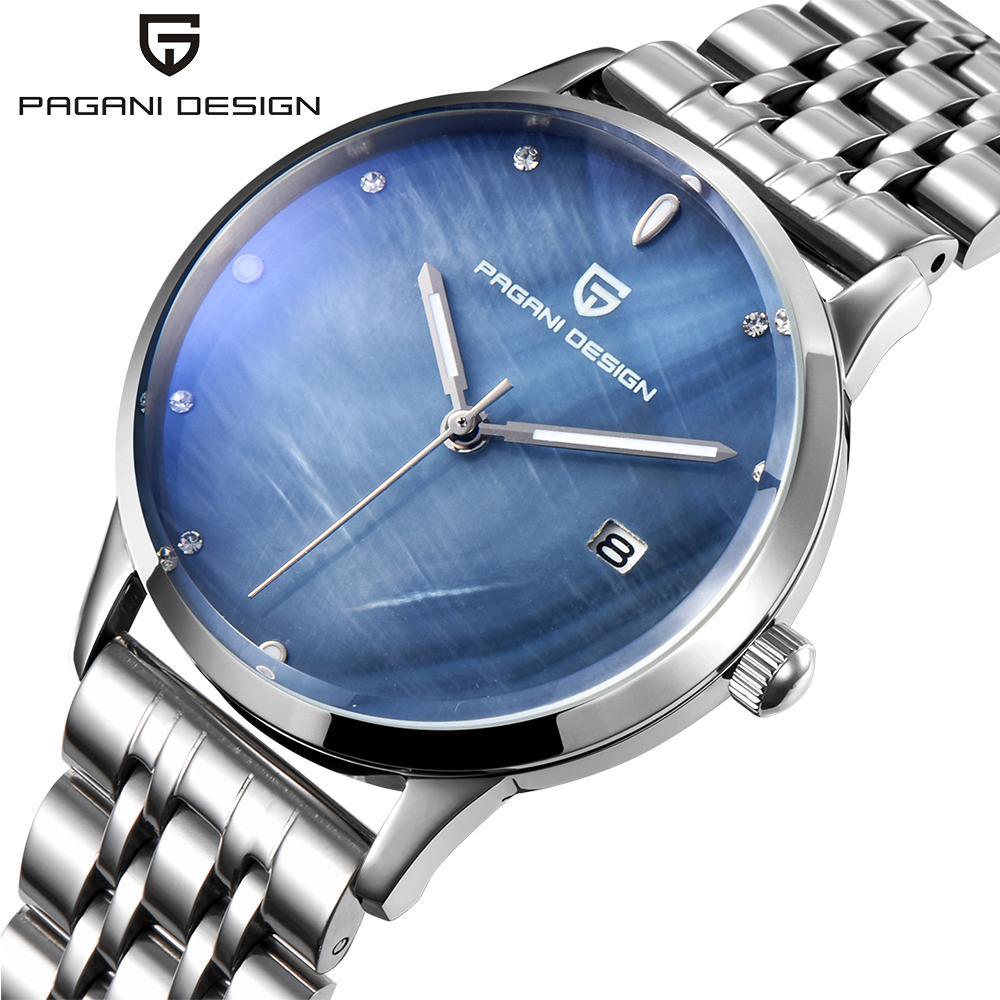 ce4d9d96675 Compre PAGANI DESIGN Marca Lady Moda Relógio De Quartzo De Aço Inoxidável  Mulheres À Prova D  Água Shell Dial Vestido De Luxo Relógios De Fengzh