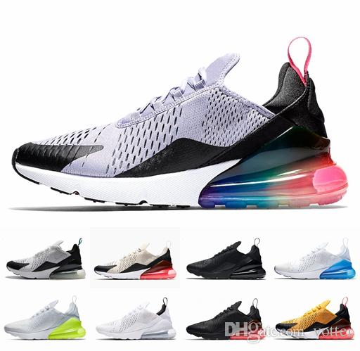 579733dcd584 2018 New 270 Shoe Men Women Running Shoes Cheap 270s Triple Black ...