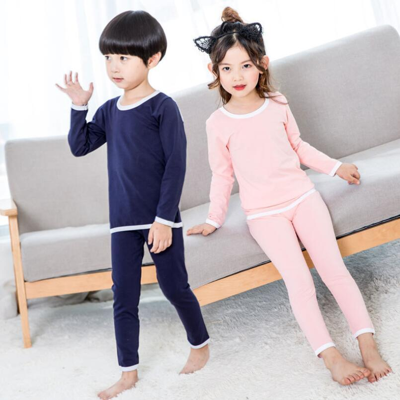 997e28f71 2018 Toddler Teen Pajamas Kids Cotton Long Sleeve Shirts+Pants ...