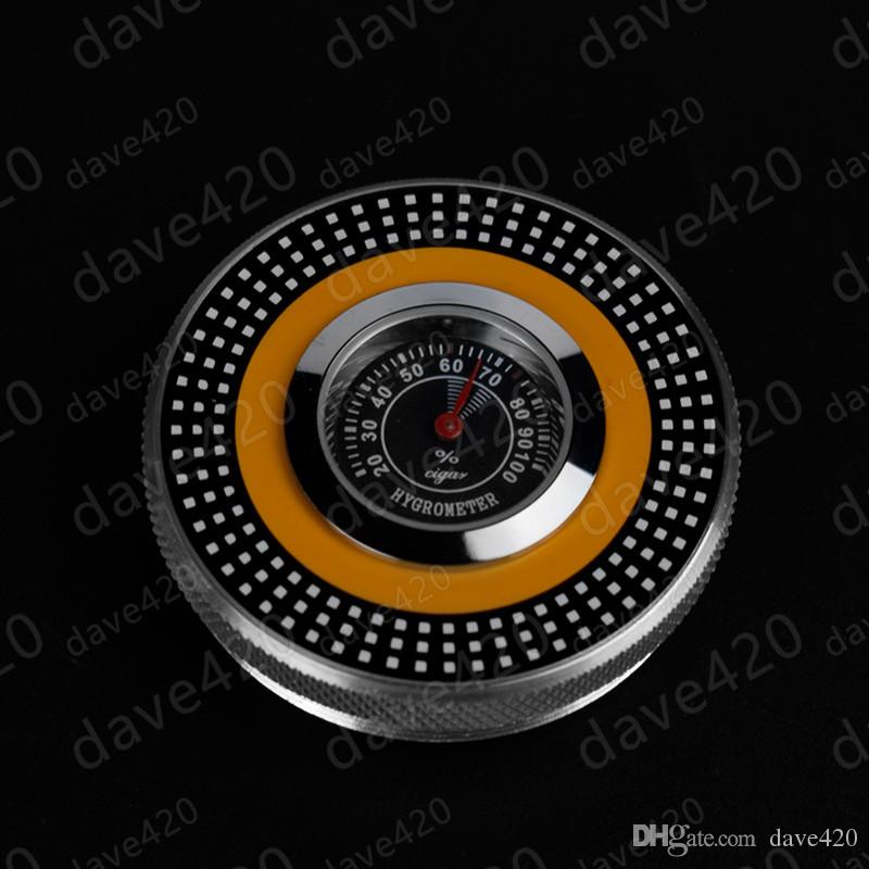 Cohiba cigar holder high-end silver cigarette tube metal cylindrical travel cigar hydrating humidor with cigar hygrometer