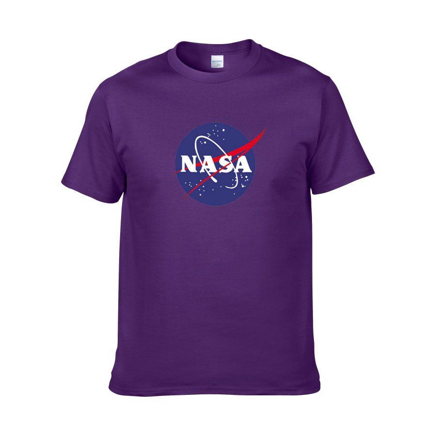 хлопок круглый воротник половина рукавом свитер спорт пальто американский астронавт НАСА Галактика земля печать футболка
