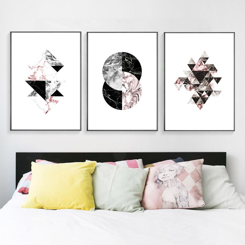HEYCUADRO Abstract Geometry Wall Poster Prints Dining Room Home ...
