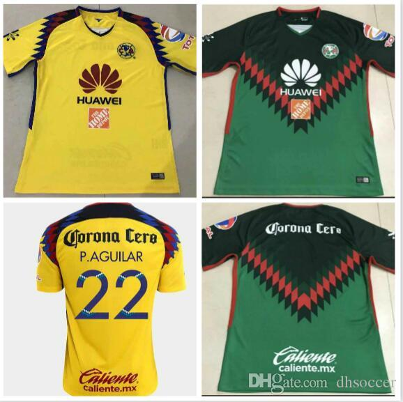 eb9011cd3 2019 TOP Quality 2018 2019 LIGA MX Club America Soccer Jerseys Green Yellow  Centenario 2018 SAMBUEZA Football Shirt Camiseta De Futbol From Dhsoccer