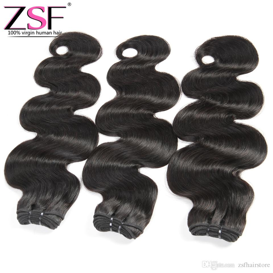 ZSF Best Selling 8A Grade Chinese Products Virgin Human Hair,3 Bundles Chinese Body Wave Extension Human Hair Bundles Natural Color