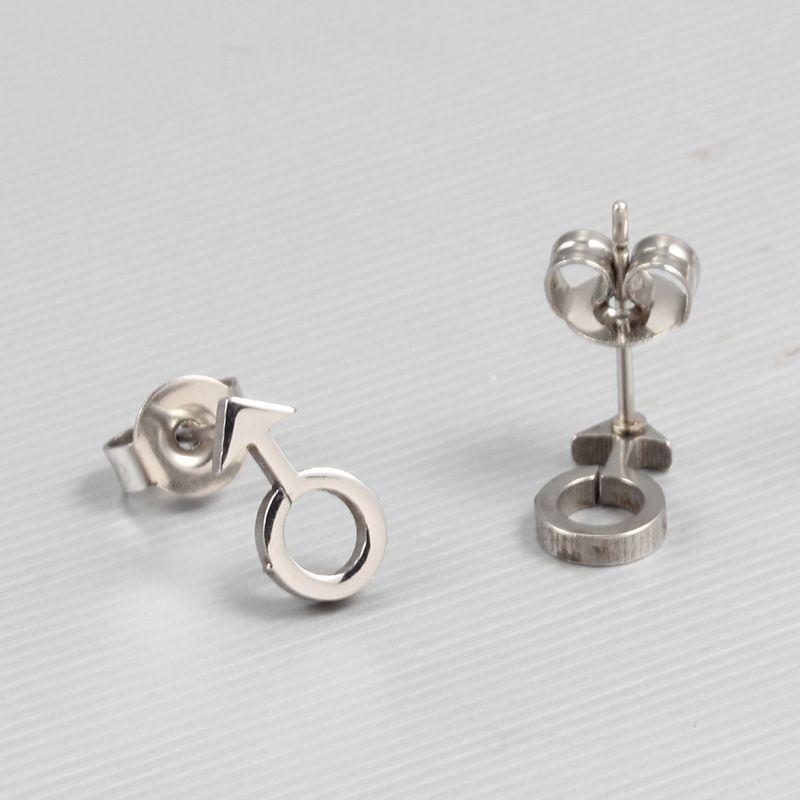 Joyas De Acero Inoxidable Stainless Steel Jewelry Titanium Stud Mens Earrings In Bulk ES-057
