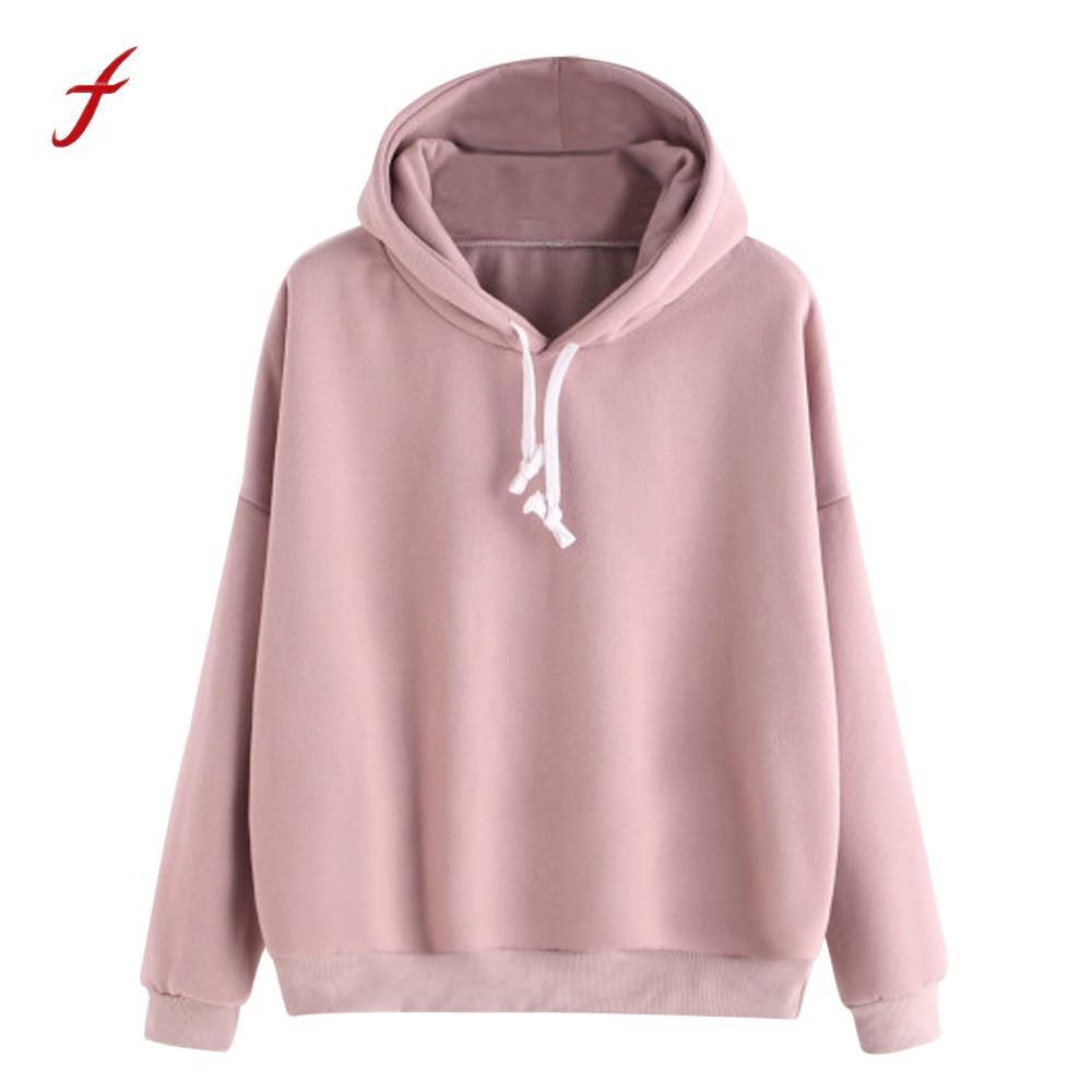 quality design 10527 ea67f Winter-Sweatshirts für Frauen 2017 Pink Damen-Kleid mit einer Kapuze  Hoodies Damen Solid Long Sleeve Casual Kapuzen harajuku Kleidung