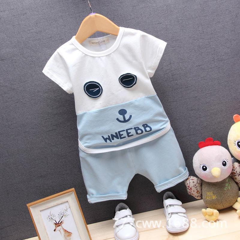 7c6a0f492 2019 Baby Boys Girls Clothing Set 2018 Summer New Fashion 100 ...