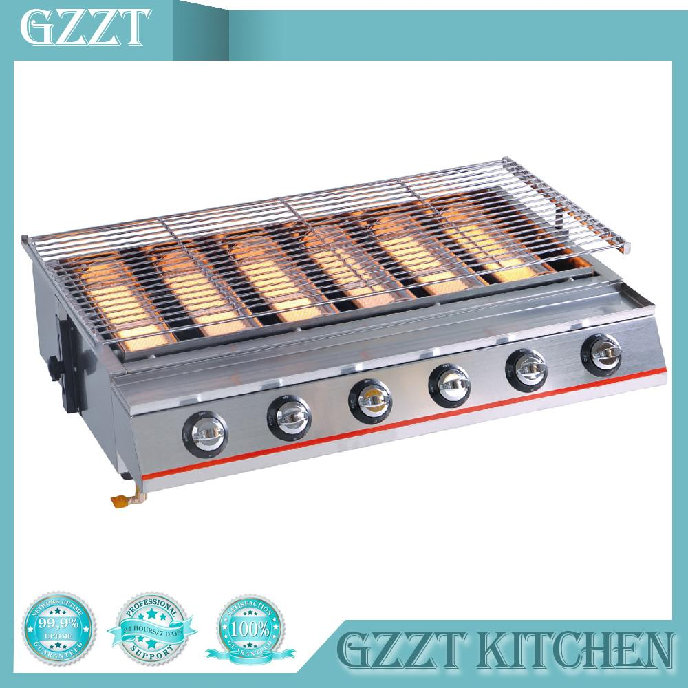 2019 Commercial Household Big Size 6 Burners Gas Bbq Grill Glshield Natural Gas Barbecue Outdoor Picnic From Shutie 506 54 Dhgate Com