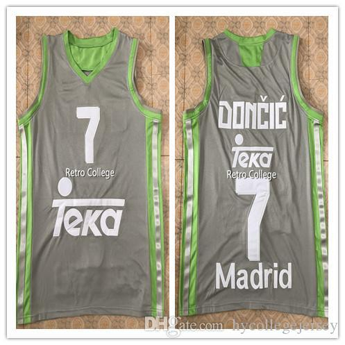 f578ba923 Cheap  7 Luka Doncic  77 slovenija men s White bule gray BASKETBALL JERSEY  Embroidery Stitches Customize any size and name Jerseys