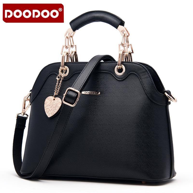 824ecde9cf3a Wholesale- DOODOO Brand New Fashion Women s Handbag PU Leather Women s  Messenger Bag Shoulder Bag Crossbody Ladies Handbag Top-Han Handbag  Organizers ...