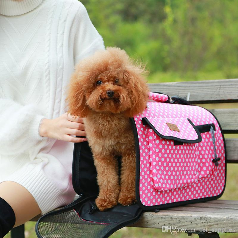 721c75c2ea Canvas Stripe Bags Breathable Pet Dog Carrying Dog Travel Slings Bag ...