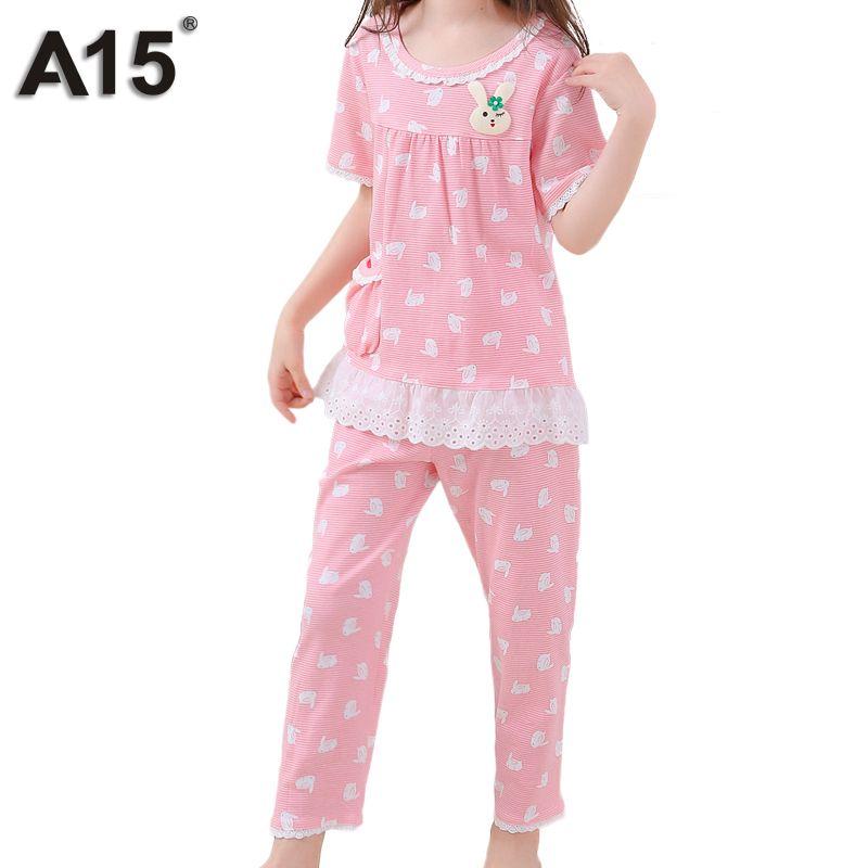 97d21b2dfe4b A15 Summer Pajamas Kids Sets Cute Animal Print 100 Cotton Pajamas ...