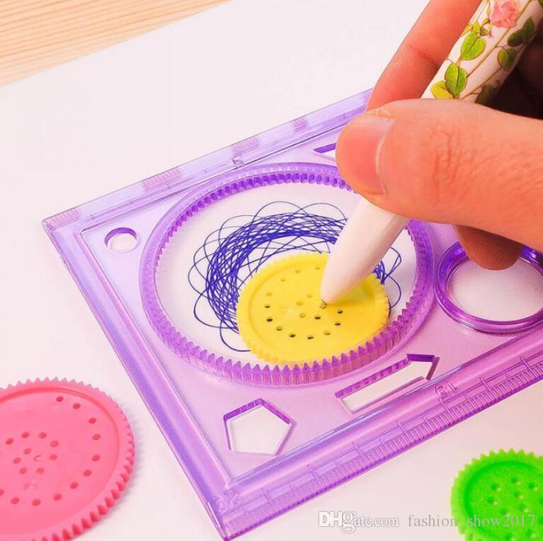 جودة عالية اللوحة متعددة الوظائف لغز مثيرة للاهتمام راسم التنفس الأطفال الرسم البلاستيك حاكم يمكن أن تحسن القدرة على بدء العمل
