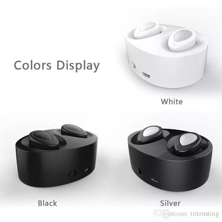 TWS Wireless Earbuds Mini Twins Bluetooth Sports Headphone Noise Cancelling Stereo Earphone With Mic For Samsung Apple iPhone 7 Plus MQ50