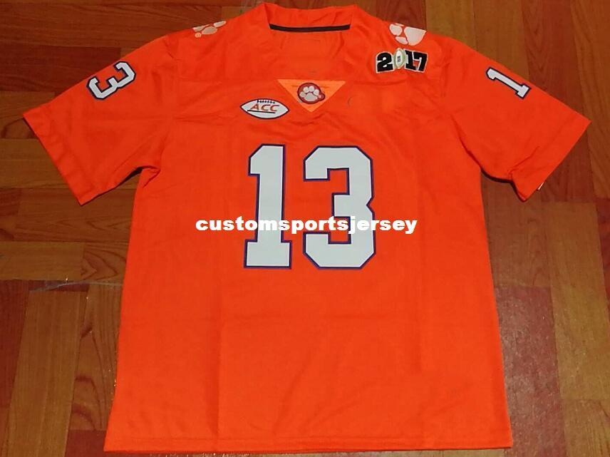 c1f56038c08 2019 Cheap Custom Clemson Tigers #13 Hunter Renfrow Orange Football Jersey  Stitched Customize Any Number Name MEN WOMEN YOUTH XS 5XL From  Customsportsjersey ...