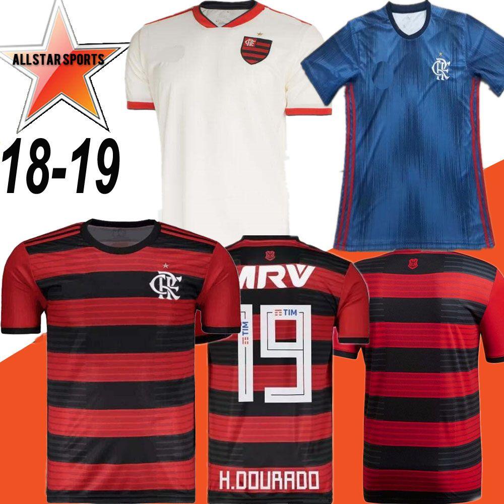 a20c36217 2019 18 19 Flamengo Jersey 2018 2019 Flemish GUERRERO DIEGO VINICIUS JR Soccer  Jerseys Brazil Flamengo Home Black Sports Football Kids Kit Shirt From ...