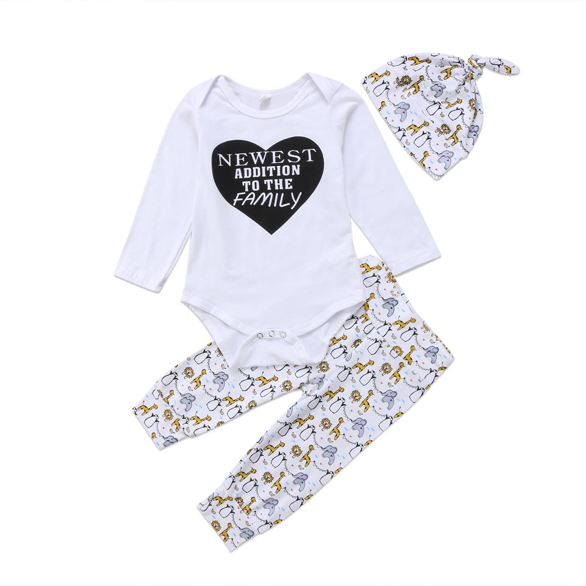 4c809f43a 2019 2017 Valentine Newborn Baby Boys Girls Outfits Long Sleeves ...