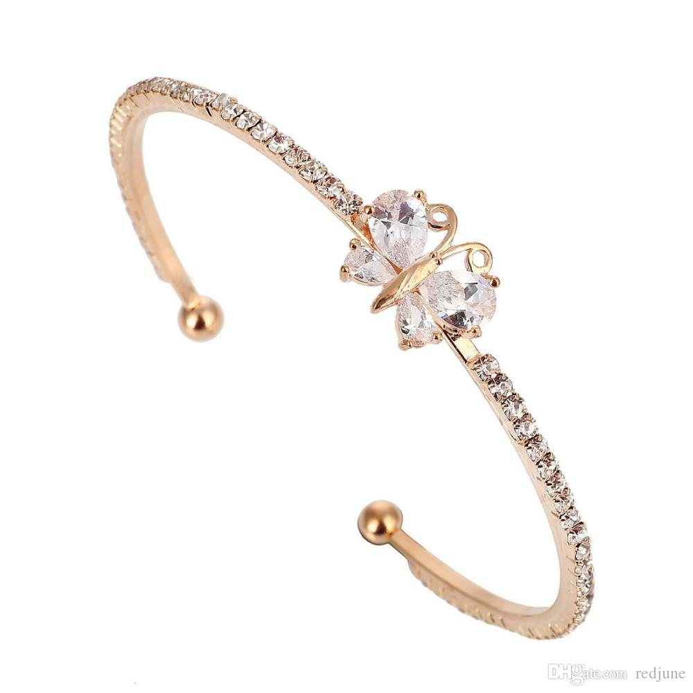 Fashion Jewelry 2019 New Style Ladies Silver Zircon Crystal Rhinestone Bangle Bracelet High Quality Nice Gl Products Are Sold Without Limitations