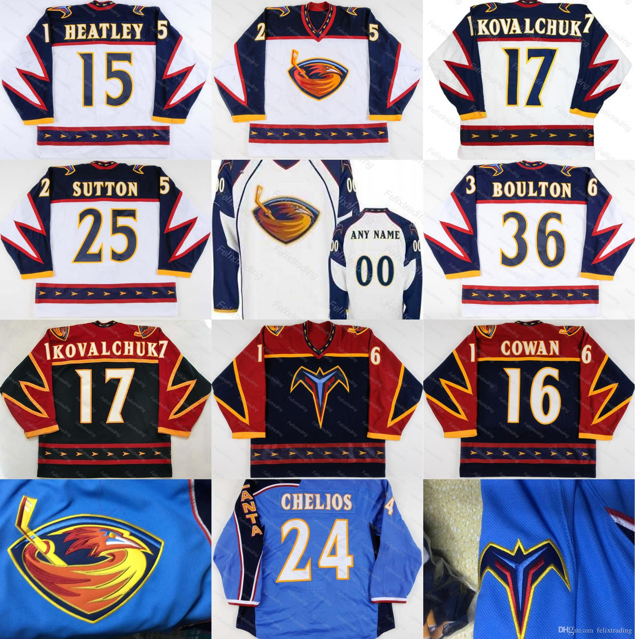 ... jerseys from sports entertainmen f164b 99e3a  sale 2018 atlanta  thrashers 17 ilya kovalchuk 15 dany heatley 16 jeff cowan 39 tobias enstrom 42aa37e33