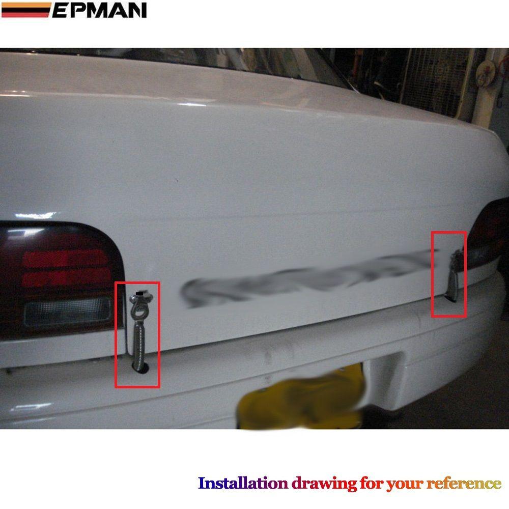 EPMAN - Racing Steel Spring Car Trunk Hood kit hook Lock Hinge Alloy For VW GOLF GTI MK3 MK7 MK5 EP-01608