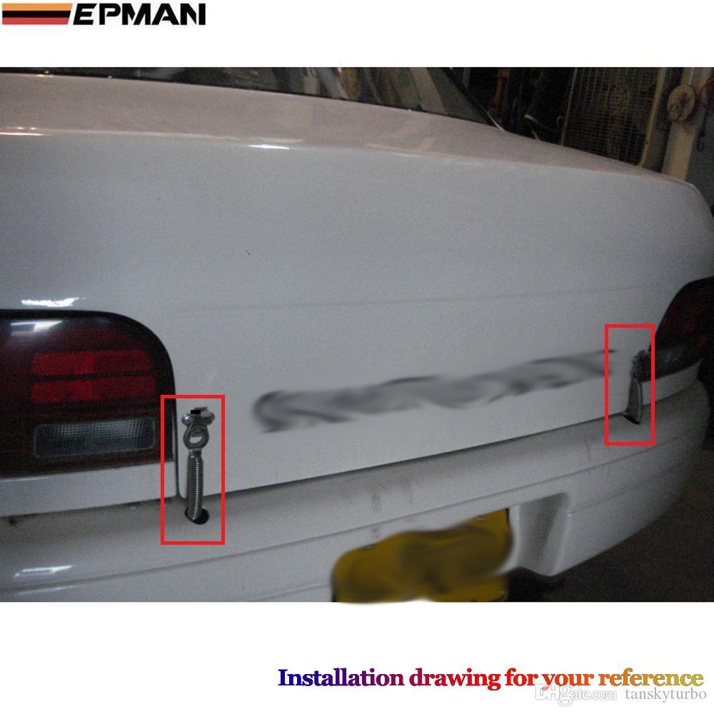 Epman - 스프링 타입 부팅 홀드 후크 보닛 스테인레스 스틸 핀 트렁크 H.Q. EP-01608