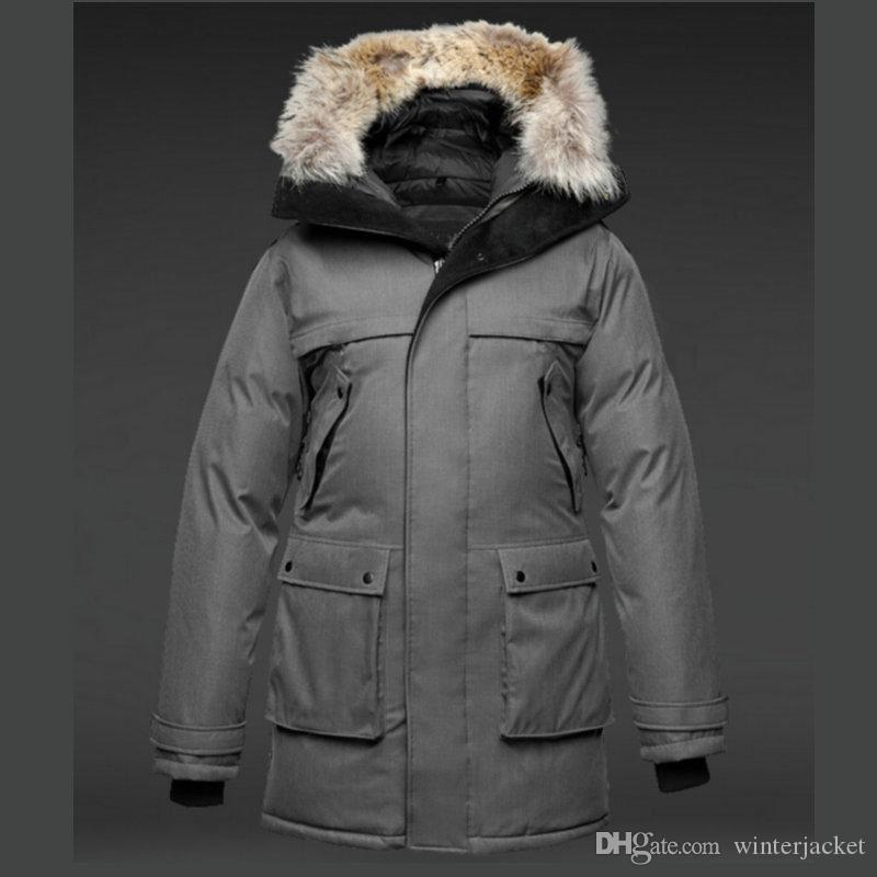 Winter Men Jackets Real Photo thickening High quality Fur Collar Hood Down Parkas magnet open Hooded Overcoats