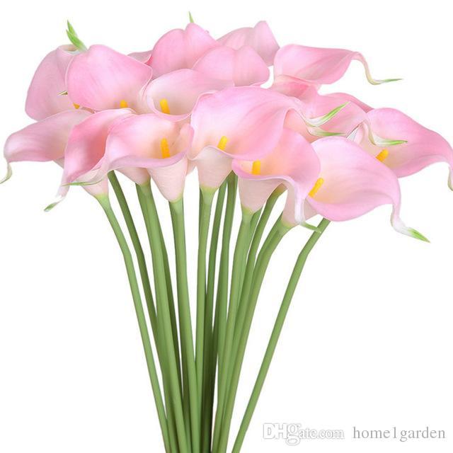 Fiore 32CM Lenth del giglio di Calla sposa Bouquet artificiale di colore 10 la casa nuziale della